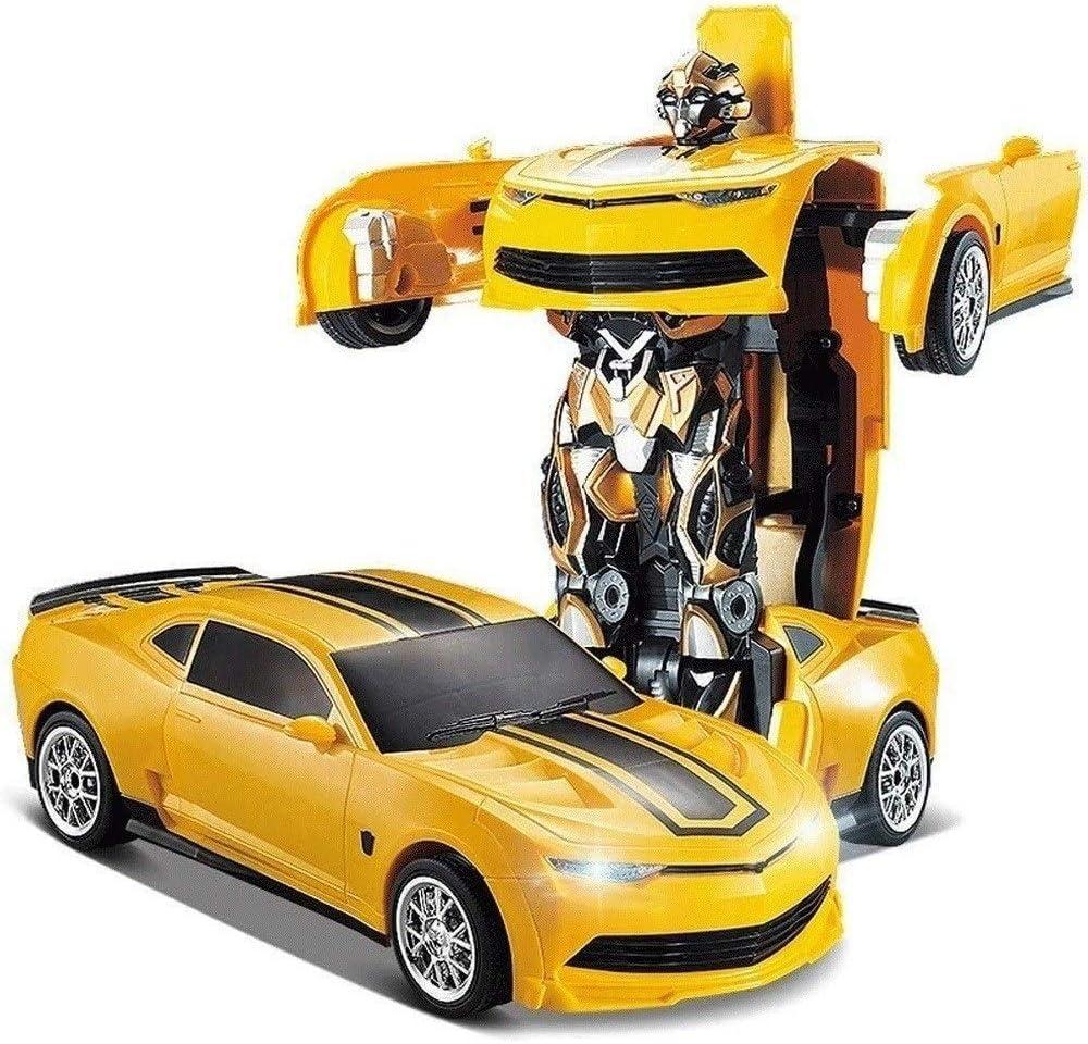 Transformador eléctrico teledirigido robot con un solo botón Transformers avispón a distancia de carga del coche del control del regalo de cumpleaños de Navidad Año Nuevo robot de juguete de niños