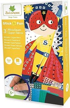 Sycomore Mosaïques Autocollantes pour Enfants 5 Tableaux