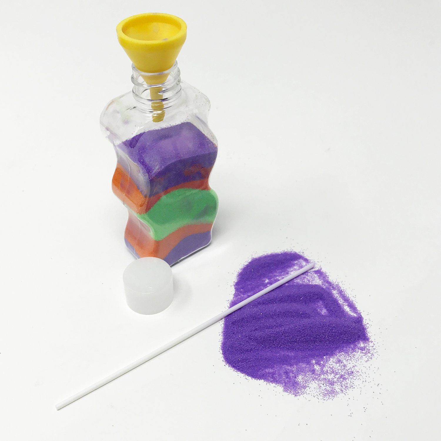 Great Art Set for Teachers and More! 12 Sticks 12 Funnels 36 Bags of Sand Sand Art Bottles Arts and Crafts Party Set For Kids Includes 12 Bottles Birthday Parties Boley Colored Sand Art Kit
