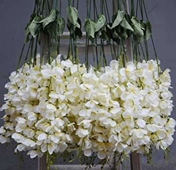 Amazon hilingo hlingo 50 pcs artificial flowers bulk fake silk hilingo hlingo 50 pcs artificial flowers bulk fake silk wisterial vine for home and weding decorations mightylinksfo