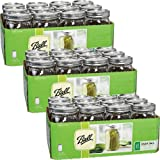 Ball Wide Mouth Quart (32 oz) Jars with Lids and Bands (3 Pack of 12)