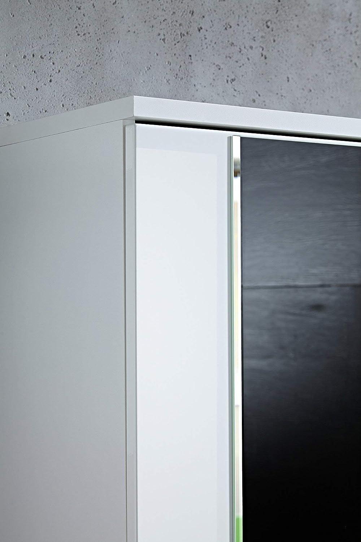 BxHxT Germania 3453-84 Garderobenschrank mit Spiegel Colorado in Wei/ß 54 x 199 x 34 cm