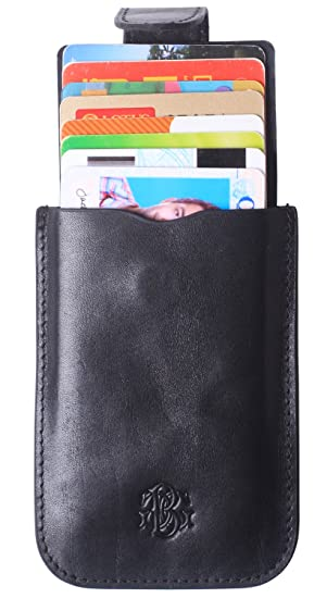 21639fa64801 RFID Leather Minimalist Slim Wallets - Credit Card Holder Front Pocket  Wallet for Men Women