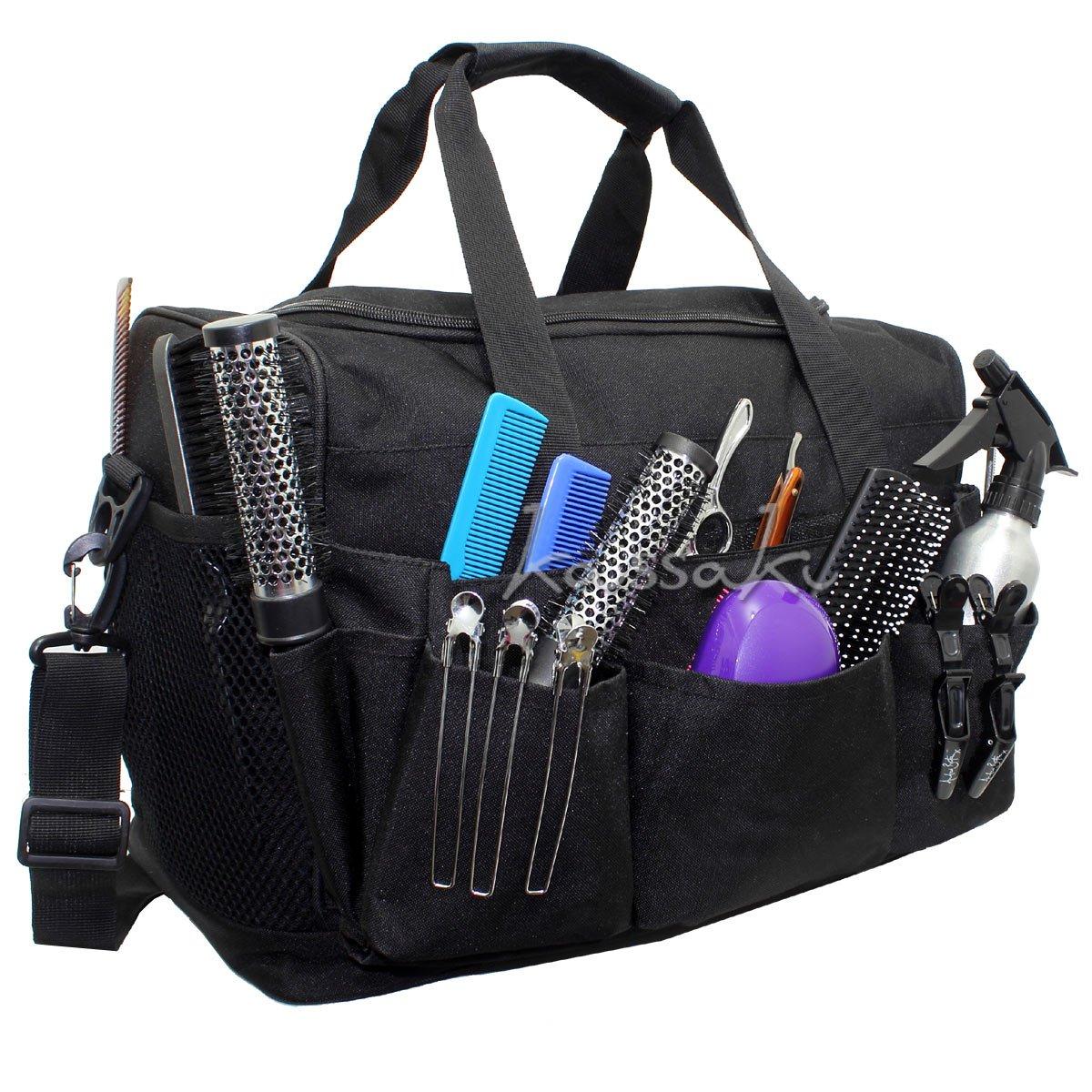 Hairdressing Designer Session Bag Large Mobile Hairdresser Barber Kit Holder in Black Kassaki