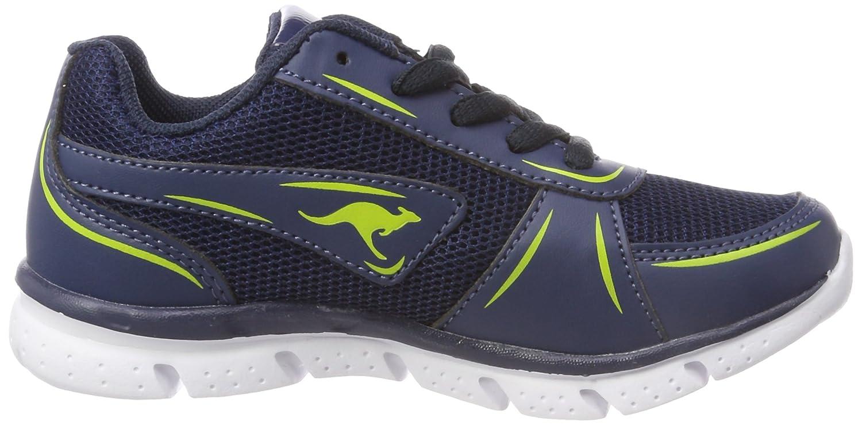 KangaROOS Unisex-Kinder K-Reg V Sneaker, Blau (Dk Navy/Lime), 32 EU