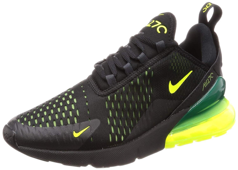 Nike Men s Air Max 270 Shoes Black Volt-Black-Oil Grey Size 13