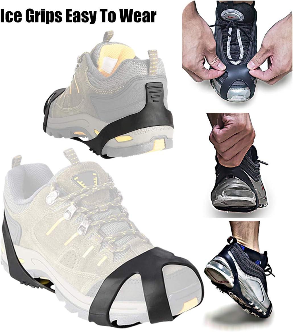Baoblaze 3 Paires de Crampons de Marche Antid/érapants pour Chaussures /à Neige Glac/ée /à 5 Dents