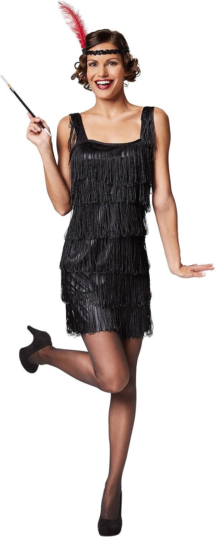 S | No. 301580 Robe Courte et s/éduisante TecTake dressforfun Costume Charleston pour Femme Franges remarquables Point Phare/: Bandeau /à Plume