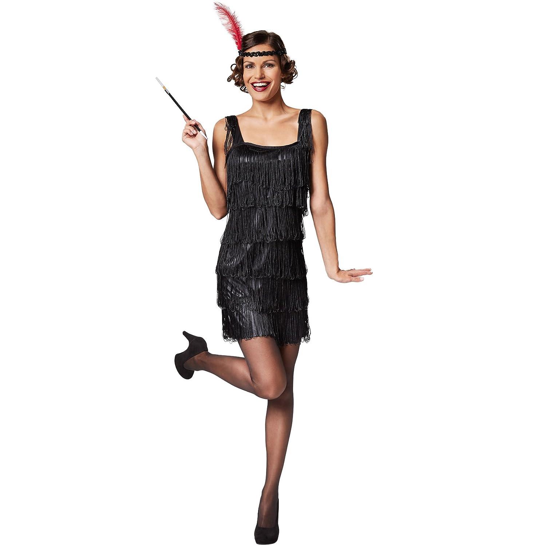 TecTake dressforfun Disfraz Charleston para Mujer | Flecos ...