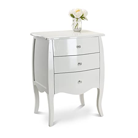 White Shabby Chic Console Side Table French Bedroom Hallway 2 3 5 Chest  Drawers Matching Set