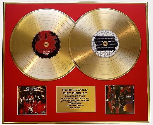 Slipknot Double Gold Vinyl Record Cd Display Limited Edition Coa 870621345 Iowa Küche Haushalt