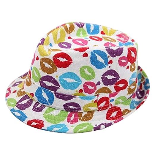 Amazon.com  Aivtalk Children Little Boys Short Brim Fedora Hat Cool ... cecf23e753b