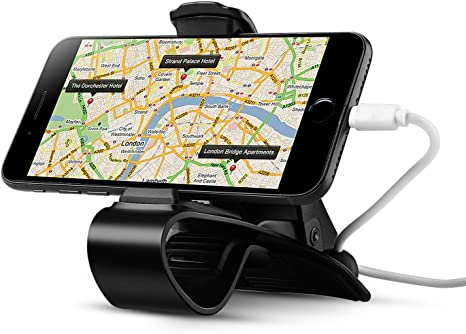 iPhone 8 7,7 Plus samsung phones Universal long armed double clip phone cradle holder mount stand for cars//boats fits up to 6-Inch smartphones iPhone 6,6 Plus iPhone X and any GPS devices NekstGen BA-1031