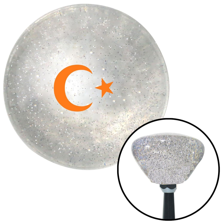 Orange Symbol of Islam American Shifter 162608 Clear Retro Metal Flake Shift Knob with M16 x 1.5 Insert