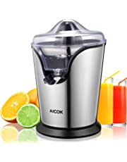 Aicok Orange Juicer Electric Citrus Juicer with Anti-Drip Spout Double Size Cones, Stainless Steel Filter, Powerful Silent Motor, BPA-Free