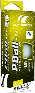Cornilleau ITTF Unisex plastica ABS Evolution 3Star Competition Palle (Confezione da 3), Bianco, Taglia Unica 310555