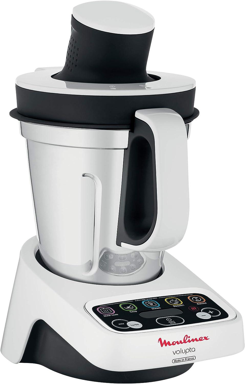 Moulinex Volupta - Robot de cocina (3 L, Negro, Blanco, Botones, Tocar, Amasar, Mezcla, 200 mm, 320 mm): Amazon.es: Hogar