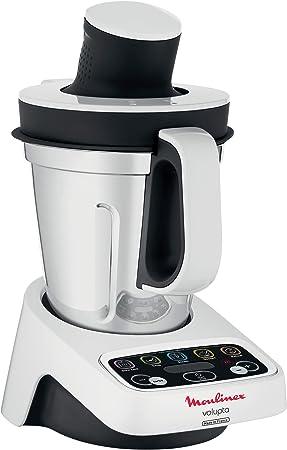 Moulinex Volupta - Robot de cocina (3 L, Negro, Blanco, Botones ...