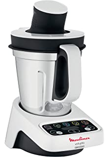 Moulinex HF404113 Robot de cocina multifunción, capacidad de 3 l, interfaz intuitivo con 5 programas automáticos, 5 accesorios, 1000 W, Plástico: Amazon.es: Hogar