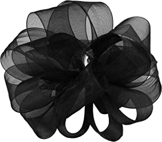 "product image for Offray Berwick LLC 427736 Berwick Simply Sheer Asiana Ribbon -1-1/2"" W X 25 yd - Black Ribbon"