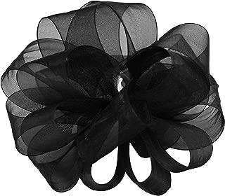 "product image for Offray Berwick LLC 427736 Berwick Simply Sheer Asiana Ribbon -1-1/2"" W X 25 yd - Black Ribbon"