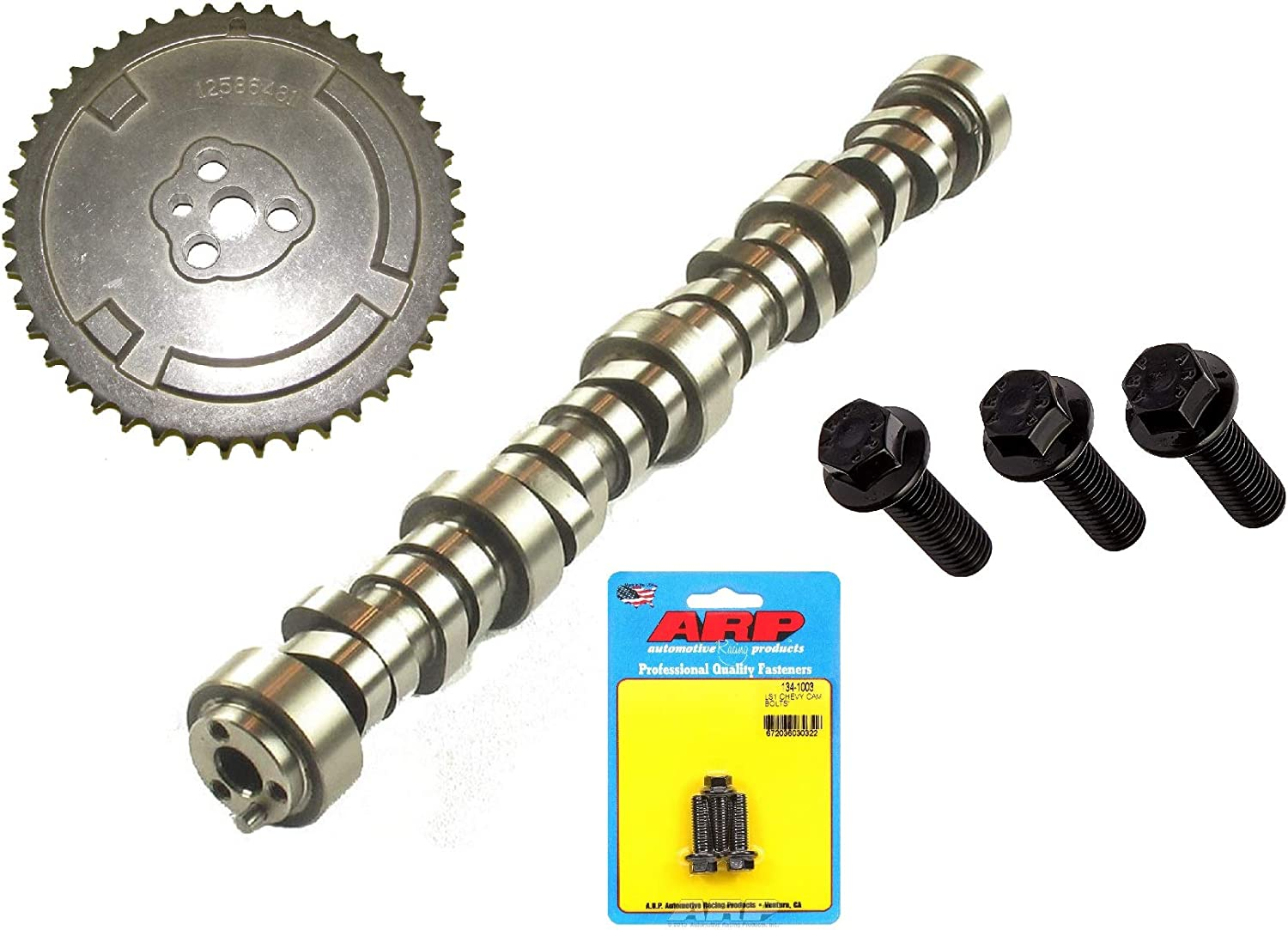 Elgin Industries 1997-2007 GM LS 5.3L 6.0L 6.2L L99 L92 V-8 LSx Sloppy Stage 2 Camshaft /& Sprocket /& ARP Bolts