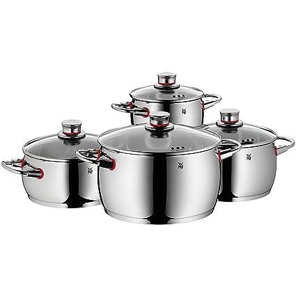 Elegant WMF Quality One   Batería De Cocina, 4 Piezas, Cacerola Con Tapa 20 Cm