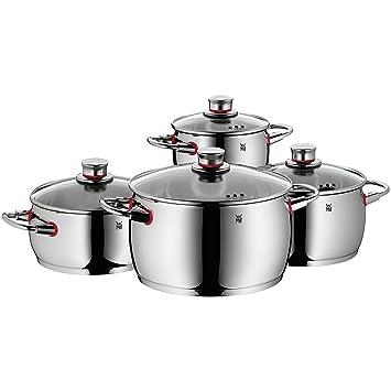 High Quality WMF 0774046380 Quality One Kochgeschirr Set, Edelstahl Rostfrei, 4 Teilig