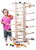 Trihorse marble run for children from 1 year old, 1 m high, with many accessories, and made in EU
