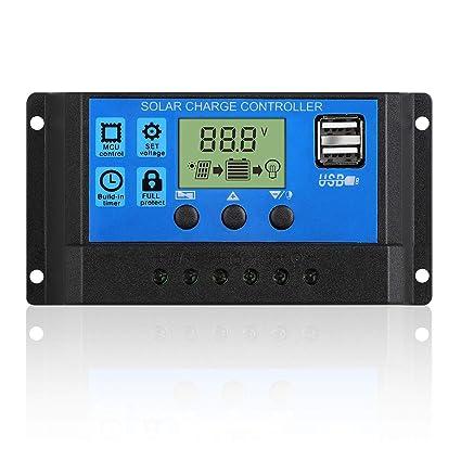 Amazon.com: Control de carga solar - Panel solar regulador ...