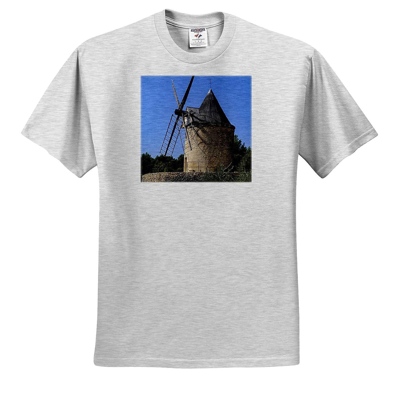 Adult T-Shirt XL France ts/_313118 Joucas Windmill Provence France 3dRose Danita Delimont