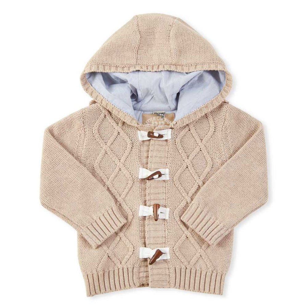 Baby Boys Hooded Cable Knit Toggle Sweater 6-12 months