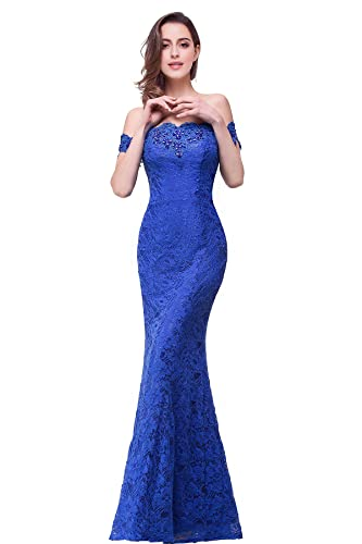 Babyonlinedress Babyonline Off Shoulder Lace Long Bridesmaid Maxi Prom Dress For Wedding CPS199