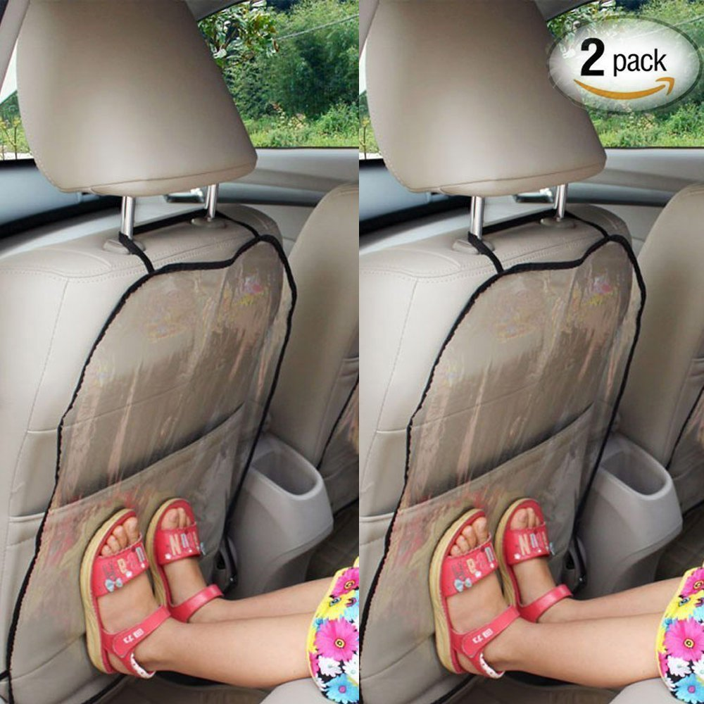 Wady Protective Car Seat Cover for Children - To Keep Car Clean - Protective and Dust Resistant Rear Seat Kick Mat - 44x 57cm, 2 x Parts