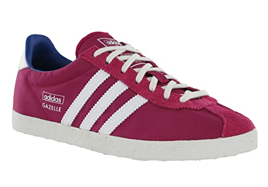 Adidas Womens Gazelle OG EF W Pink White Suede Nylon Sport Trainers Shoes  (UK 5