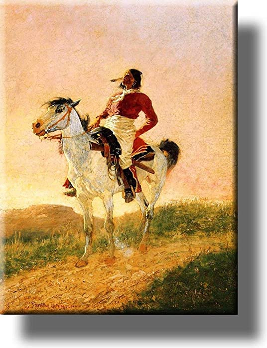 Modern Comanche Indian Picture on Stretched Canvas, Wall Art Décor, Ready to Hang!