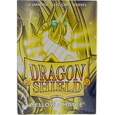 Arcane Tinman Sleeves: Dragon Shield Matte Japanese Yellow (60): Toys & Games