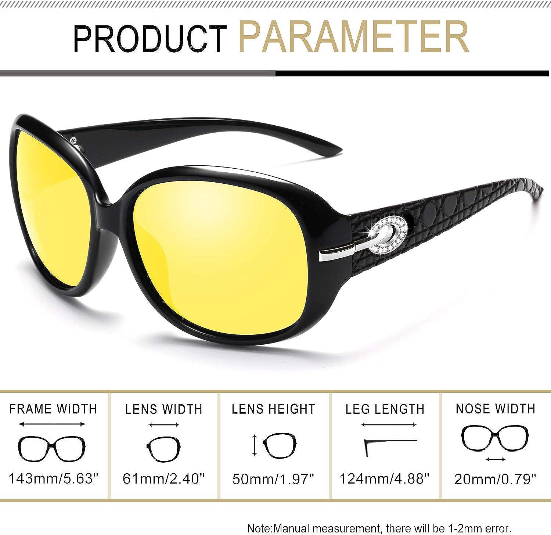 Protezione UV Signora Moda Polarizzati Occhiali da Sole U9045 Joopin Occhiali da Sole da Donna Grande Telaio