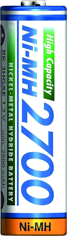 Panasonic BK-3HGAE/4BE - Pilas AA NI-MH 2700 recargables de gran capacidad (2.700 mAh, 4 unidades): Amazon.es: Electrónica