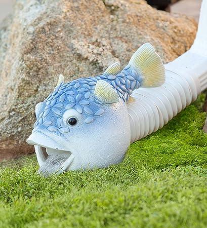 Blowfish Decorative Downspout Cover 13 75 L X 7 5 W X 8 75 H
