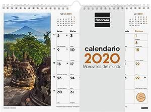 Finocam - Calendario de pared 2020 Imágenes Espiral 30x21 Maravillas del Mundo español: Amazon.es: Oficina y papelería