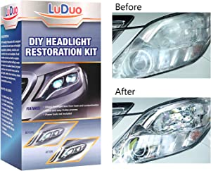 Headlight Restoration Polishing kit, Headlamp Brightener, LuDuo