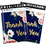 RUSPEPA 10x13 inches Poly Mailers Shipping Bags Thank You Notes Flowers Surrounded 2.3 Mil Heavy Duty Self Seal Mailing Envel