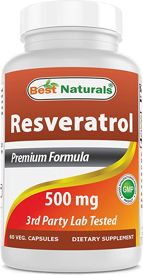 Amazon Com Best Naturals Resveratrol 500 Mg 60 Capsules Health