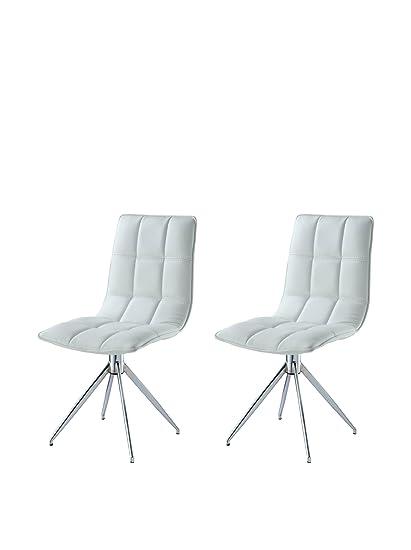 Wondrous World Mod Dc1238P Wht Modern Apollo Swivel Dining Chair Ncnpc Chair Design For Home Ncnpcorg