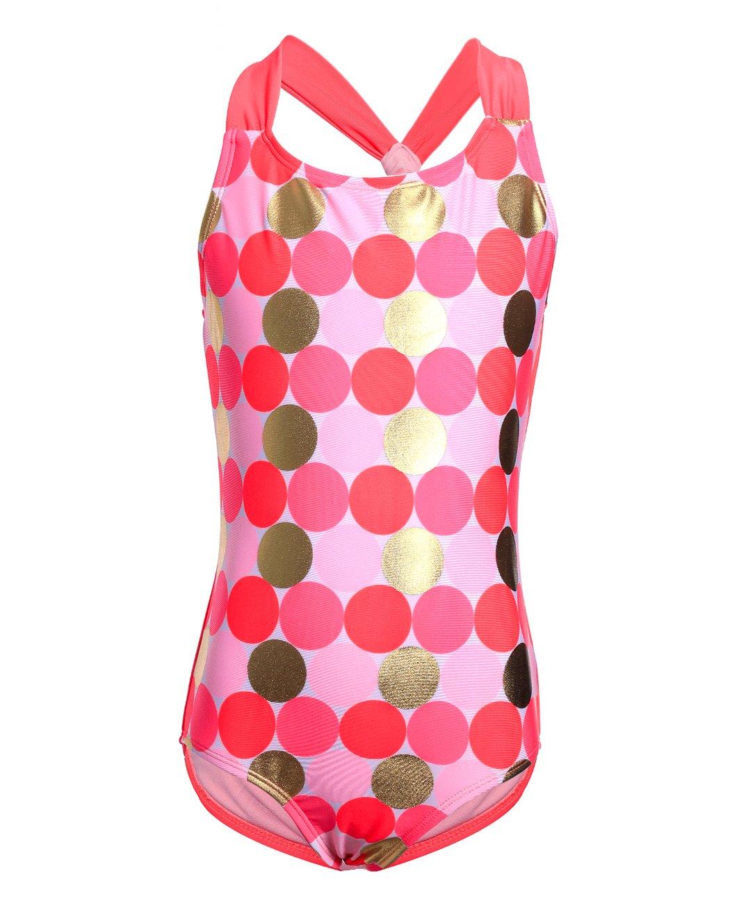 iDrawl Girls Swimwear One Piece Bathing Suit Kids Swimsuit