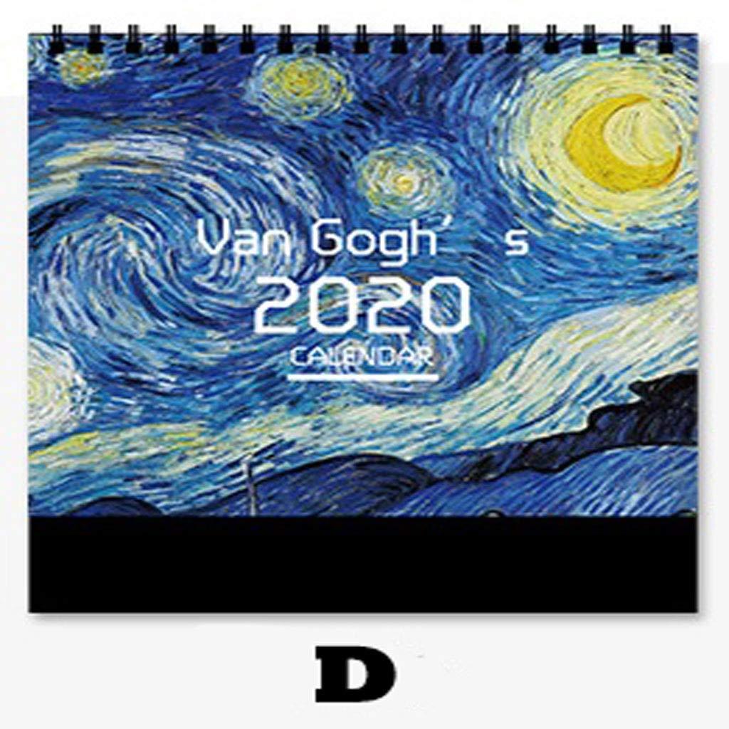 ZXF Calendario 2020 Calendario artístico pequeño ...