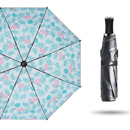 Paraguas Sombrilla súper Ligera pequeña protección Solar Sombrillas Lluvia Sol QIQIDEDIAN