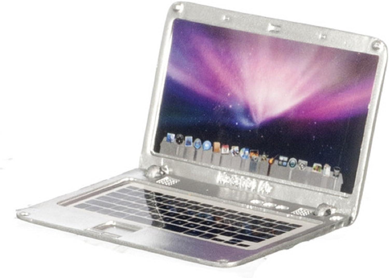 Dollhouse Miniature Laptop, silver