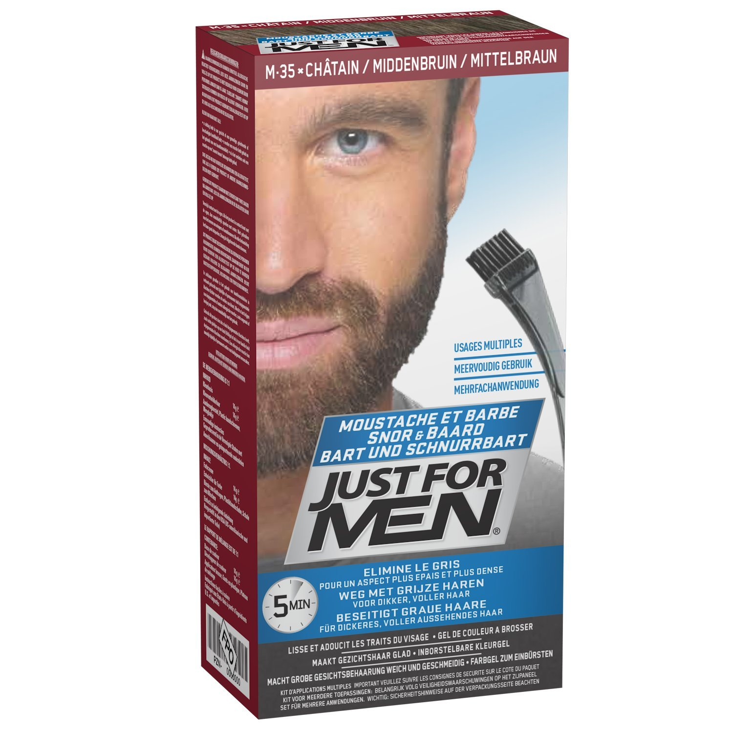 Just For Men M35 Moustache And Beard Facial Hair Color Medium